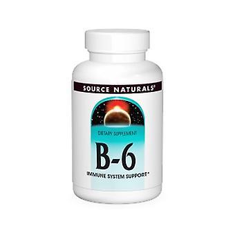 مصدر Naturals فيتامين ب-6، 500 ملغ، الإصدار الزمني، 100 علامات التبويب