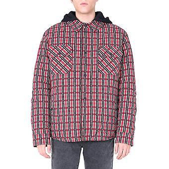 Off-white Omea236f20fab0012510 Männer's rote Baumwoll-Shirt