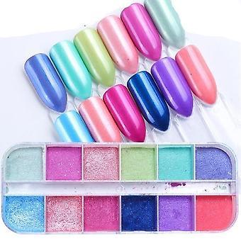 Couleur mixte 3d Ultrathin Sequins Nail Glitter Flakes - Éblouissant paillette nail