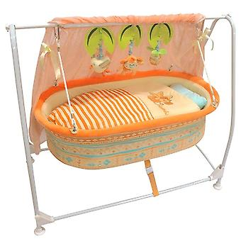 Baby Bassinet Cradle Swing Type Bed- Swing Music Remote Control Bed, Baby Crib