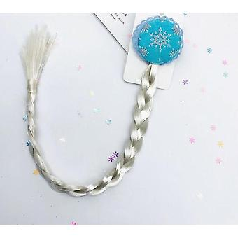 Frozen 2 Wig Braids Baby Girl Cosplay Toys, Show Dress Up Accessory Princess