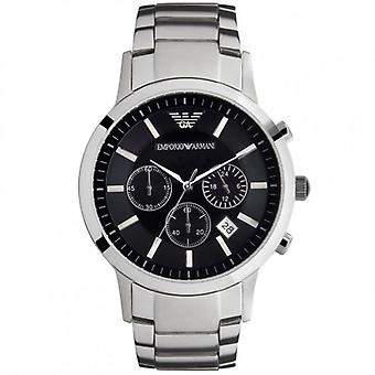 Armani Ar2434 Silver Stainless Steel Chronograph Men's Montre