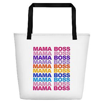Mama Boss Print Einkaufstasche