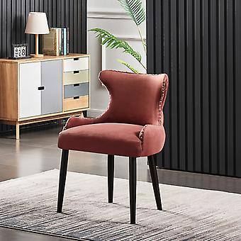 Oliver Lux Velvet Dining Chair Pink