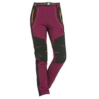 Pantalon de randonnée pour femmes d'hiver, pantalon softshell pour l'escalade de ski de camping
