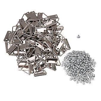 100x Mur Mount Small Triangle Ring Frame Hangers 2 Trous avec vis