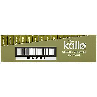 Cubes de bouillon de légumes biologiques Kallo 66g (6 Cubes) x15