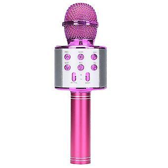 Portable Bluetooth Karaoke Microphone, Wireless Professional Speaker, Home Ktv,