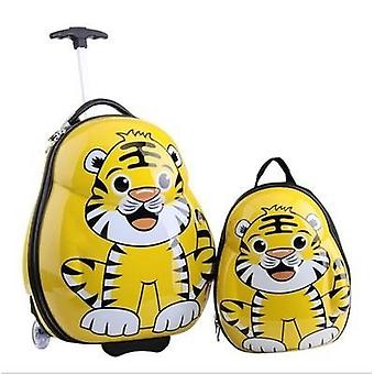 Child Anime School Bag / ragazzo Bagagli Animale 17 pollici Cartoon Rolling Valigia / bambini