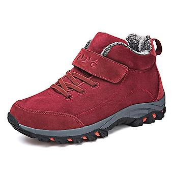 Waterproof Winter Men Boots With Fur, Rubber Ankle Shoes