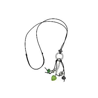 Colar Verde Claro/ Contas cinza-prata