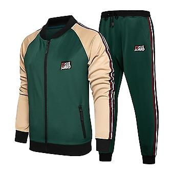 Herren Sportswear Mode Colorblock Jogging Anzug Herbst Winter Outfits Gym