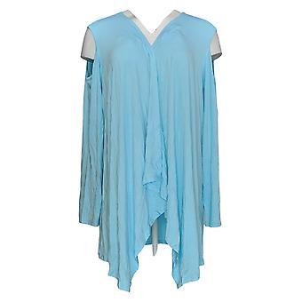 Coleção Joan Rivers Classics Women's Plus Sweater Knit Blue A306705