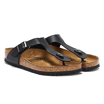 Birkenstock Gizeh Birko-Flor czarne Damskie sandały