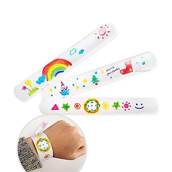 12 Pcs Diy Blank Slap Bracelets - Easter