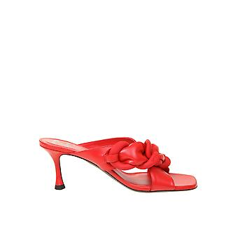 N°21 21ecptnv11051x012 Women's Red Leather Slippers