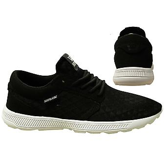 Supra Hammer Run Black Mesh Lace Up Casual Mens Running Trainers 08128 098 B18E