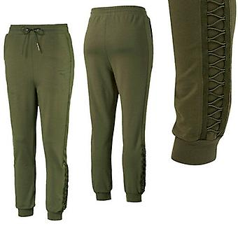 Puma Womens Lacing Track Pants Casual Joggers Trouser Olive 574125 14 A91D