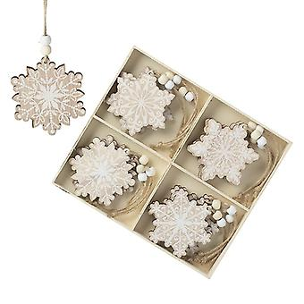 Wooden Snowflake Tree Decorations