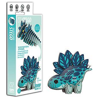 Eugy 3d stego dinosaur model craft kit