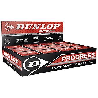 Dunlop Progress Squash Bälle (Packung mit 12)