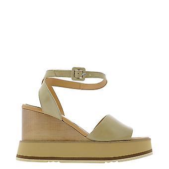 Paloma Barceló Lacolorytorrone Women's Beige Leather Sandals