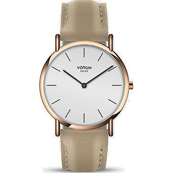 VOTUM - Reloj de señora - SLICE SMALL - PURE - V05.20.20.04 - correa de cuero - beige