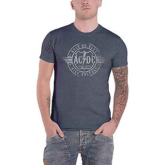 AC/DC T Shirt Rock or Bust BAnd Logo new Official Mens Heather Grey