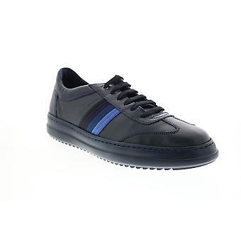 Geox U Tayrvin Herren Blau Leder Euro Sneakers Schuhe