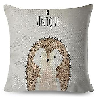 Nordic Style Pillow Case, Decor Cute Animal Cushion Cover For Sofa