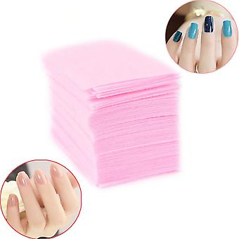 Pink Lint-free Wipes All For Manicure Nail Polish Remover Pad