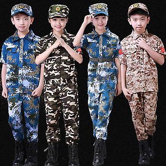 Summer Kids Army Camouflage Soldier Military Marine Costume Uniform
