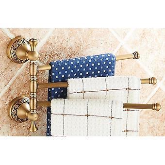 Antiek Messing, Gesneden HanddoekRing/document Houder/zeepschotel- De Hardwarereeks van de badkamers