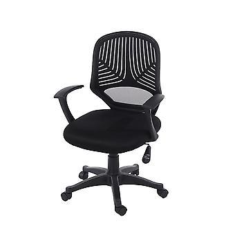 Lust home office chair in black mesh black fabric & black base