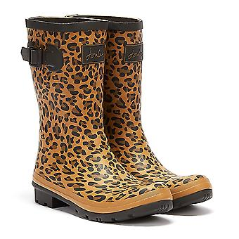 Joules Molly mid height leopard mujeres marrón / negro wellies