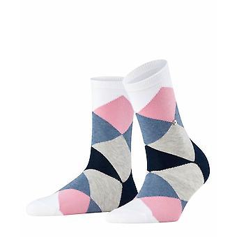 Burlington Bonnie Socks - White/Pink/Blue