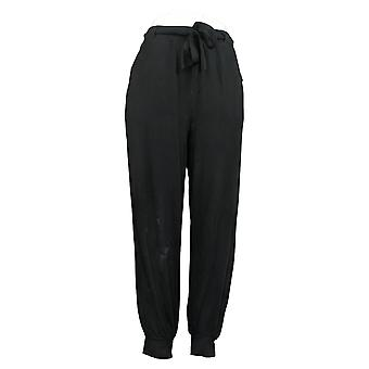 Anybody Women's Pants Cozy Knit Jogger With Tie Waistband Black A372089