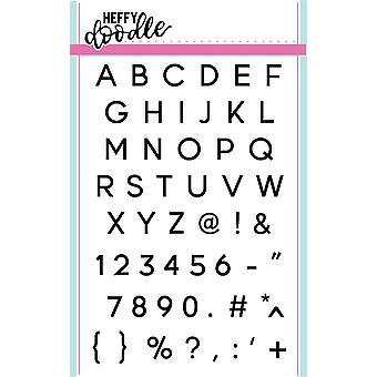 Heffy Doodle Jet Alphabetters Clear Stamps