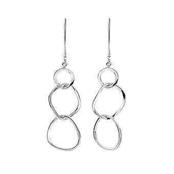 Sterling Silver Earrings - Origins Linked Organic Shapes Design