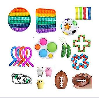 Sensory Fidget Toys Set 25 Pack Stress Relief And Anti-anxiety Hand Toys For Kids And Adults Calming Toys