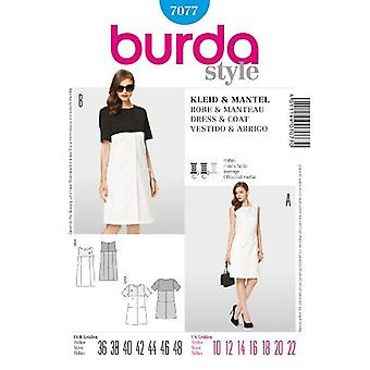 Motif de couture Burda, 7077 - Misss Dress and Coat Size 10-22