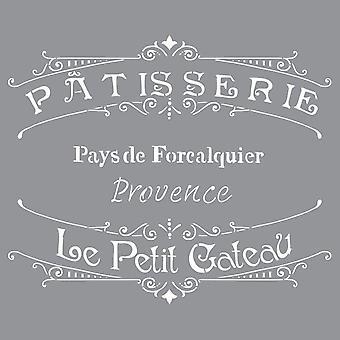Decoart Stencil - Det franska bageriet