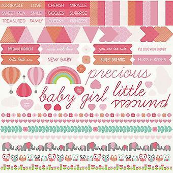 Kaisercraft - Little One Girl 12x12 Sticker Sheet