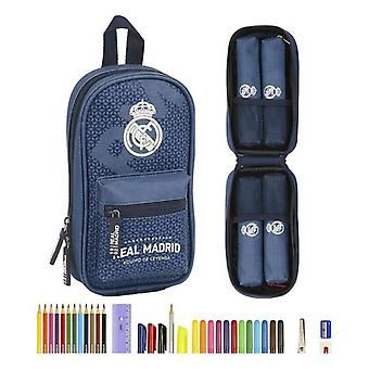 Backpack Pencil Case Real Madrid C.F. Leyenda Blue (33 Pieces)