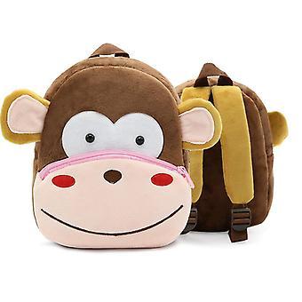 Apina lapset'vauvan pehmkotie pieni koululaukku reppu sarjakuva laukku