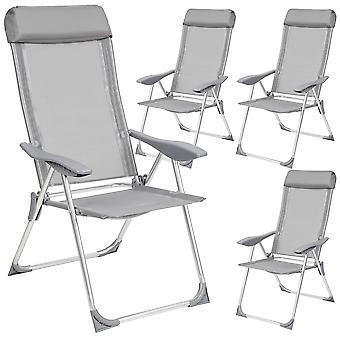 tectake Hage stoler sammenleggbare 4 stk.
