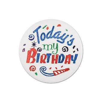 Heute'S mein Geburtstag Satin Button (Pack von 6)