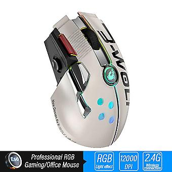 Wireless Gaming Mouse Professional Mice(white)