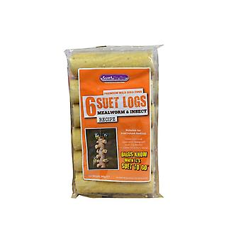 Suet to go mealworm & insect suet logs 6pk