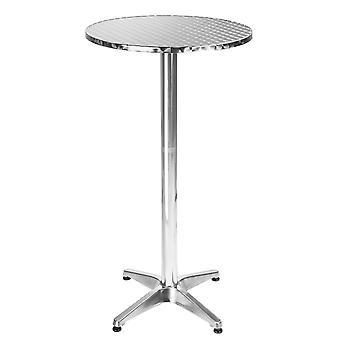 tectake Aluminium Cafe bord Ø60cm